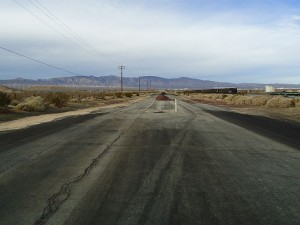 North end of Sierra Highway, where CA 14 cut off access to the town of Mojave.