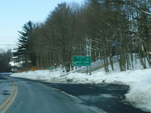Leaving Massachusetts, westbound on US 20, and into New York.